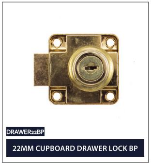 22MM CUPBOARD DRAWER LOCK BP