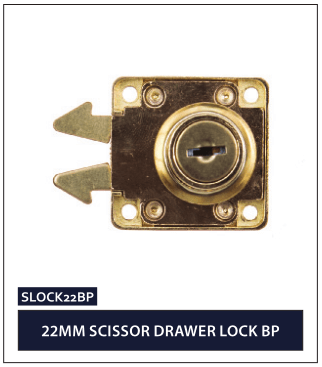 22MM SCISSOR DRAWER LOCK BP