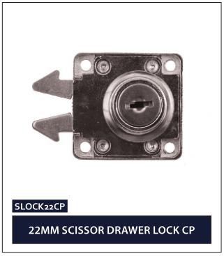 22MM SCISSOR DRAWER LOCK CP