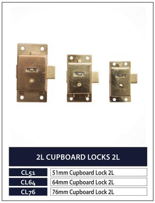 2L CUPBOARD LOCKS 2L