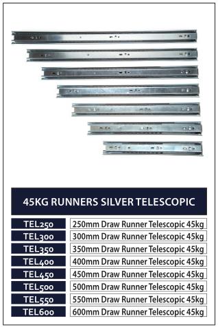 45KG RUNNERS SILVER TELESCOPIC