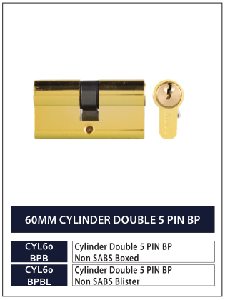 60MM CYLINDER DOUBLE 5 PIN BP