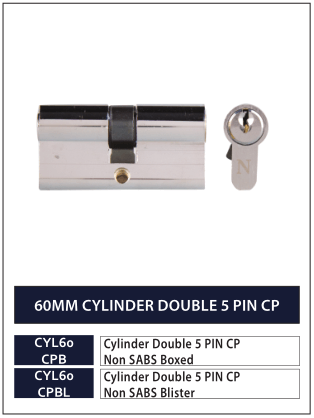 60MM CYLINDER DOUBLE 5 PIN CP