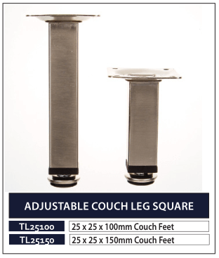 ADJUSTABLE COUCH LEG SQUARE