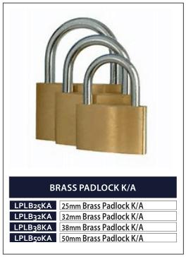 BRASS PADLOCK K-A