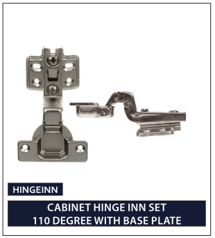 CABINET HINGE INN SET 110 DEGREE WITH BASE PLATE