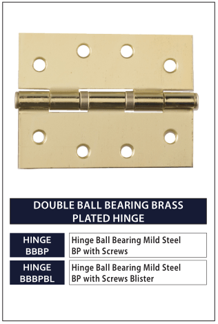 DOUBLE BALL BEARING BRASS PLATED HINGE
