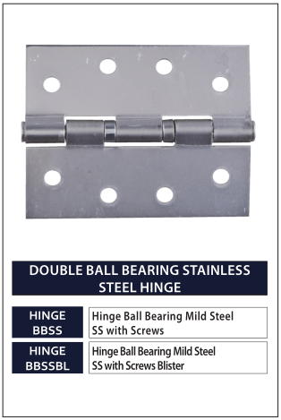 DOUBLE BALL BEARING STAINLESS STEEL HINGE