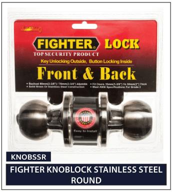 FIGHTER KNOBLOCK STAINLESS STEEL ROUND