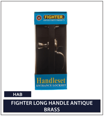 FIGHTER LONG HANDLE ANTIQUE BRASS