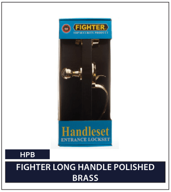 FIGHTER LONG HANDLE POLISHED BRASS