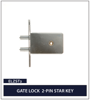GATE LOCK 2-PIN STAR KEY