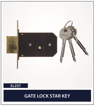 GATE LOCK STAR KEY