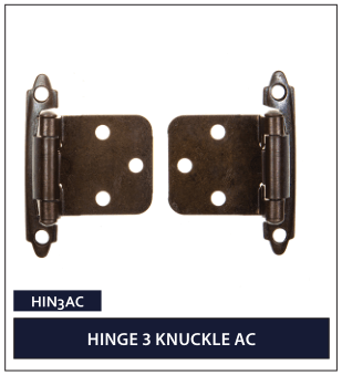 HINGE 3 KNUCKLE AC