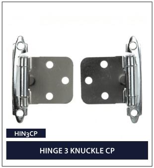 HINGE 3 KNUCKLE CP
