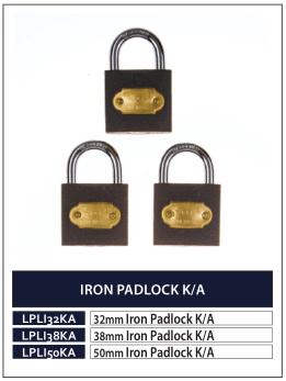 IRON PADLOCK K-A