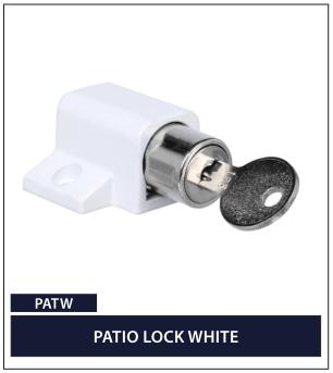 PATIO LOCK WHITE