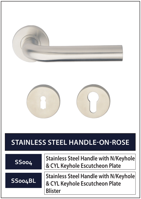 STAINLESS STEEL HANDLE-ON-ROSE 4