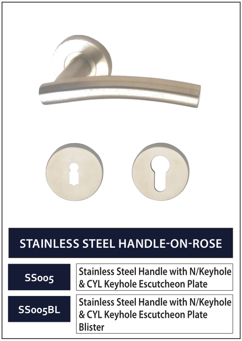 STAINLESS STEEL HANDLE-ON-ROSE 5